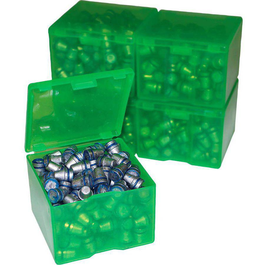 MTM CAST116 Cast Bullet Box, 2pk 200/9mm Capacity, Poly Clear Green