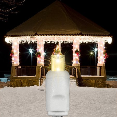 13 ft icicle christmas lights 105 warm white led mini. Black Bedroom Furniture Sets. Home Design Ideas