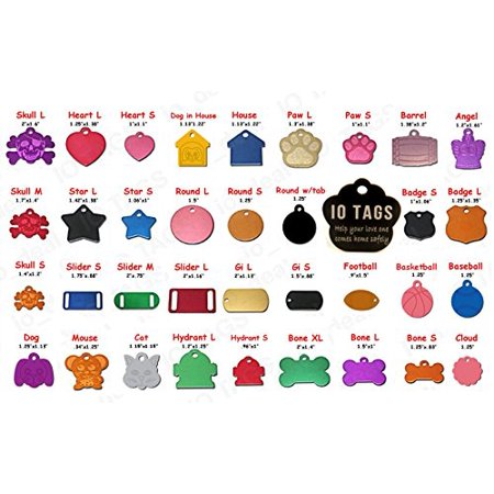 Aluminum Pet ID Tag Free Custom Engraved Dog Cat Personalized Luggage Tag for $<!---->