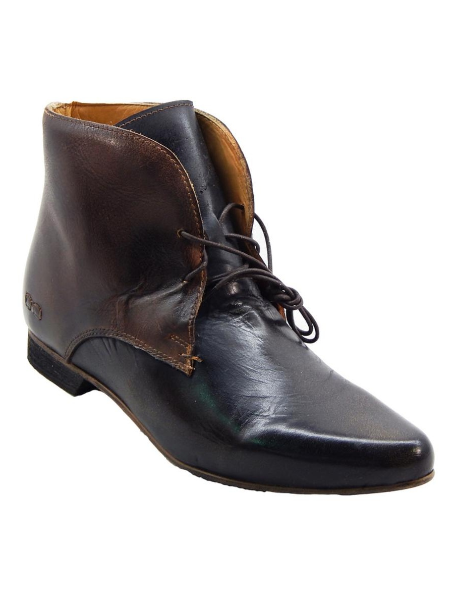 Bed Black Stu Women's Hollow Black Bed Rustic Teak Rustic Bootie 7c8859
