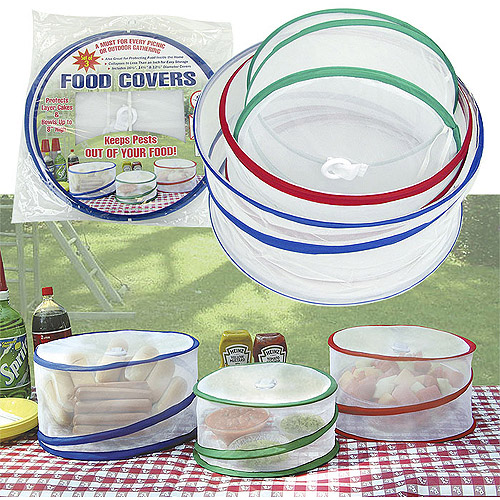 Trademark Home Set of 3 Pop-Up Outdoor Food Covers, As Seen On TV