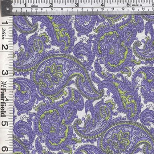 Textile Creations CALI-466 Calico New Arrivals 3, Paisley Blue & Green