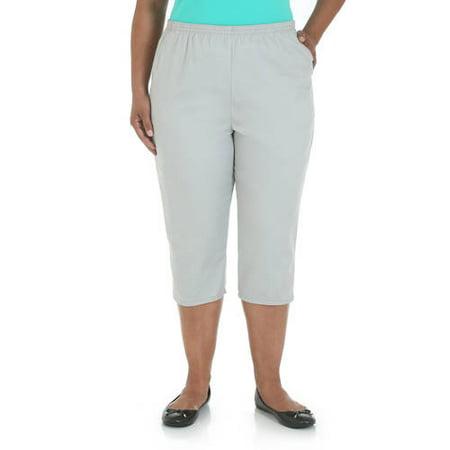 Chic Women's Plus-Size Comfort Collection Elastic-Waist Capri Pants