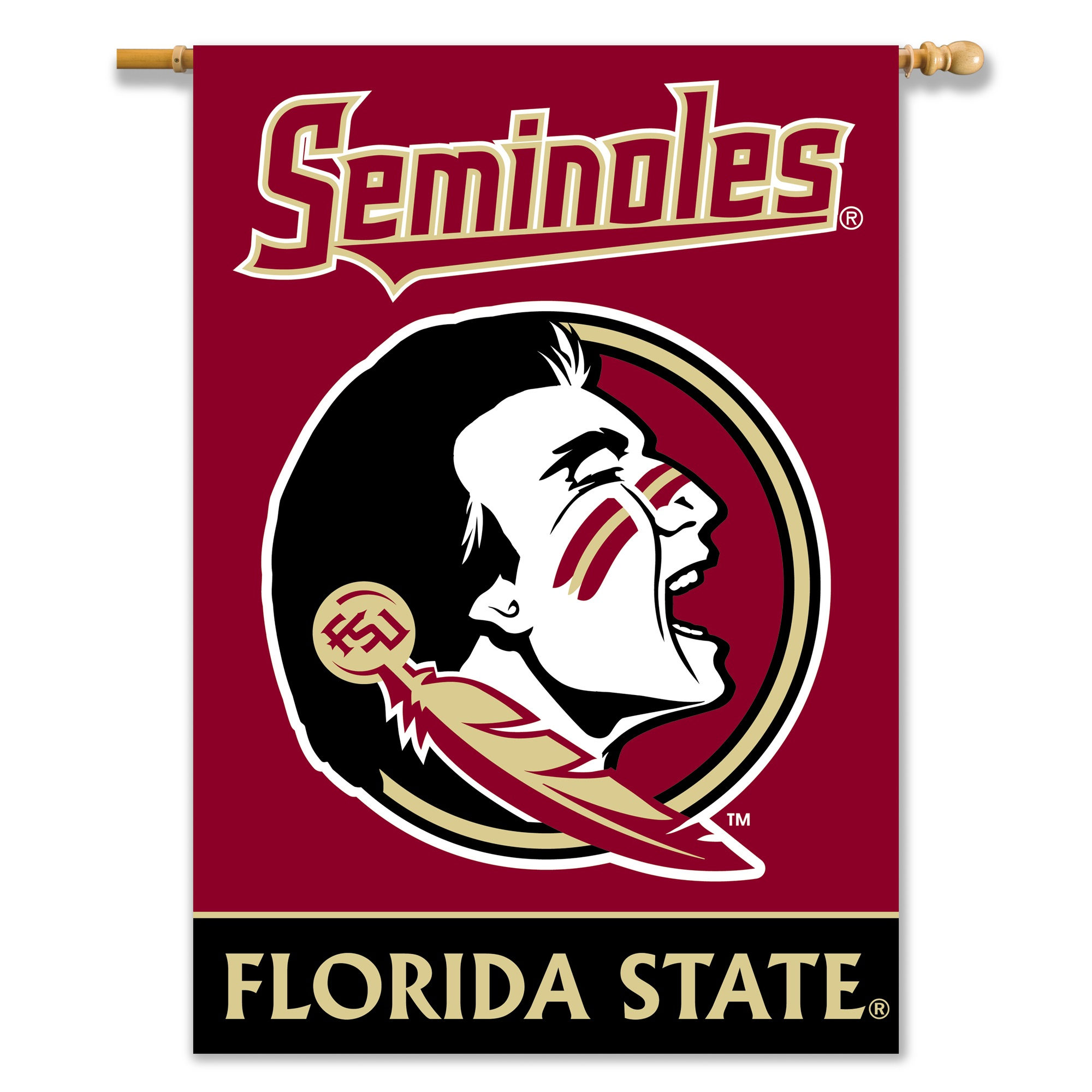 Florida State University Seminoles 2-Sided House Flag/Banner