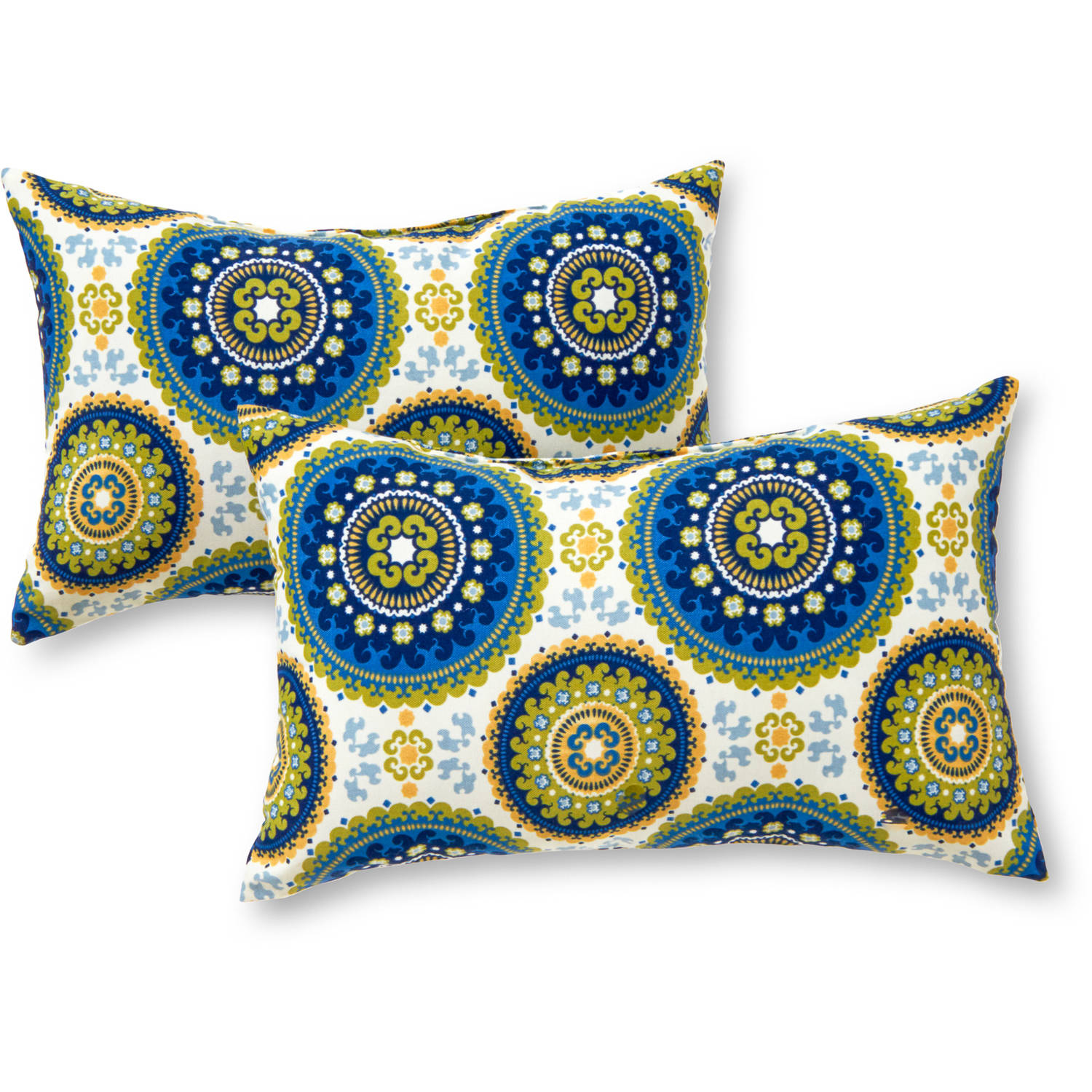 Greendale Home Fashions Rectangle Outdoor Accent Pillows, Set of 2, Summer