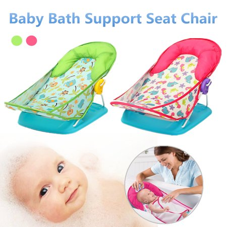 Newborn Baby Infant Foldable Cradles Bath Tub Support Seat Chair Bathing Shower Chair Adjustable Folding Safety Helper Tool Home