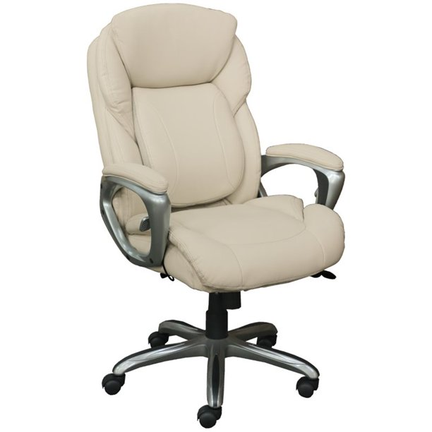 Serta Works My Fit Executive Office Chair With Tailored Reach Walmart Com Walmart Com
