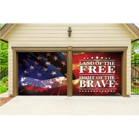 The Holiday Aisle Land of the Free 2 Piece Garage Door Mural