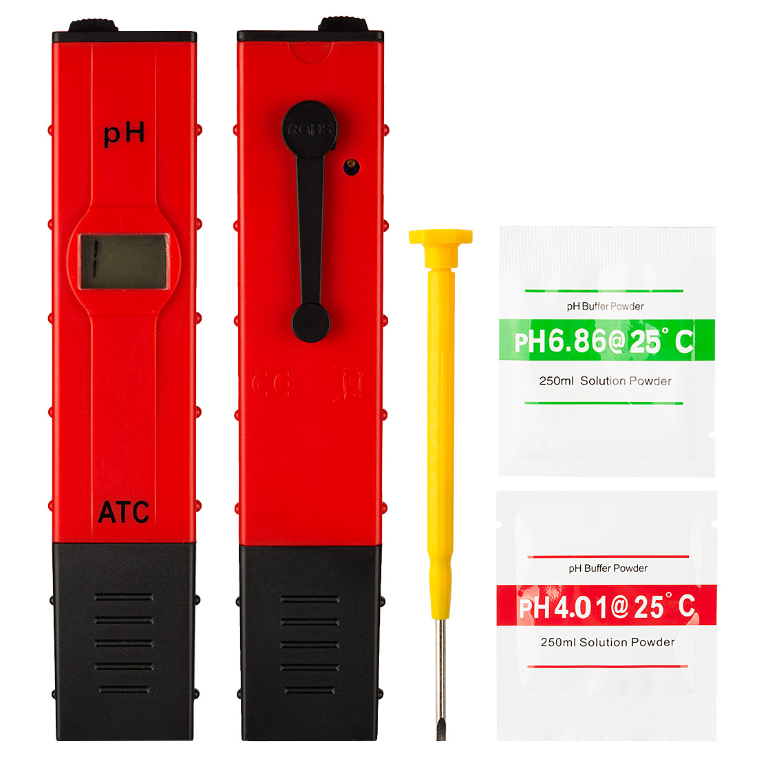 Digital PH Meter Tester Pocket Aquarium Pool Water Wine LCD Pen Monitor Red