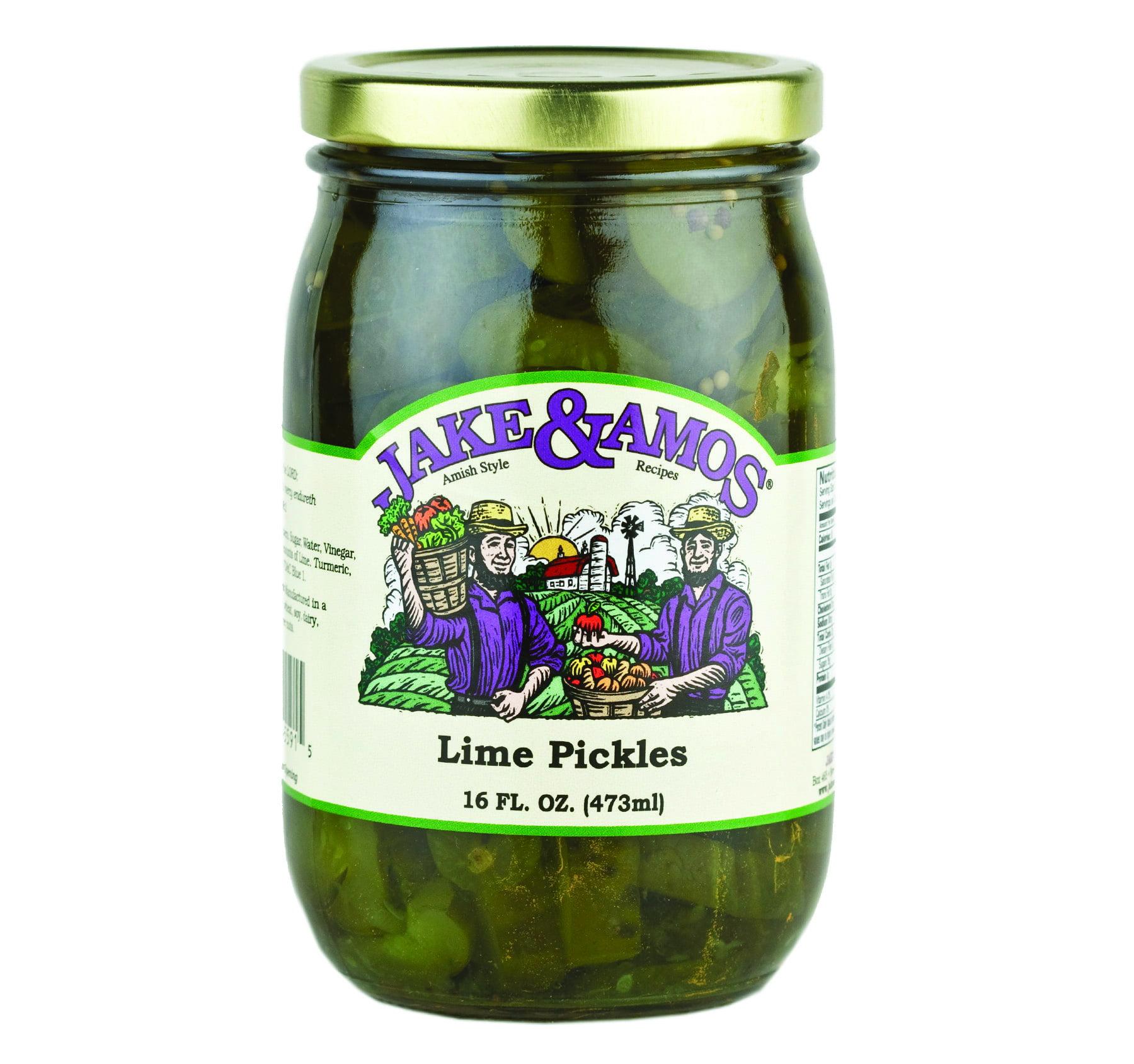 Jake & Amos Lime Pickles 16 oz. (3 Jars)