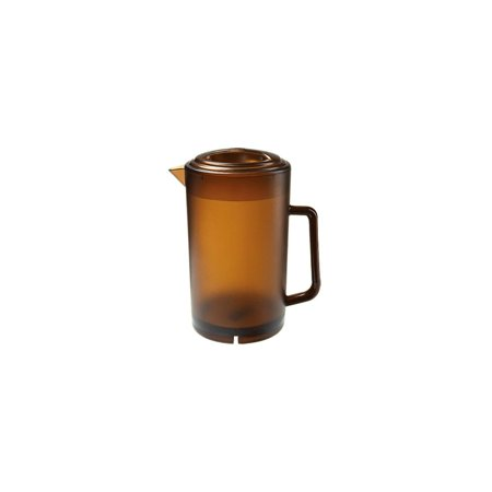 G.E.T. P-3064-1-A Amber 64 Ounce Textured Pitcher with - Amber Pitcher