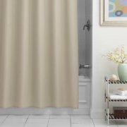 Excell Chevron Fabric Shower Curtain Liner, Taupe