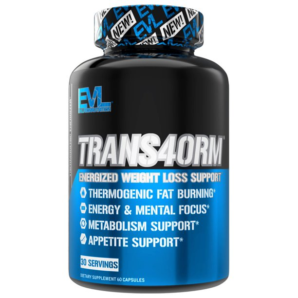 Evlution Nutrition Trans4orm Thermogenic Weight Loss Supplement