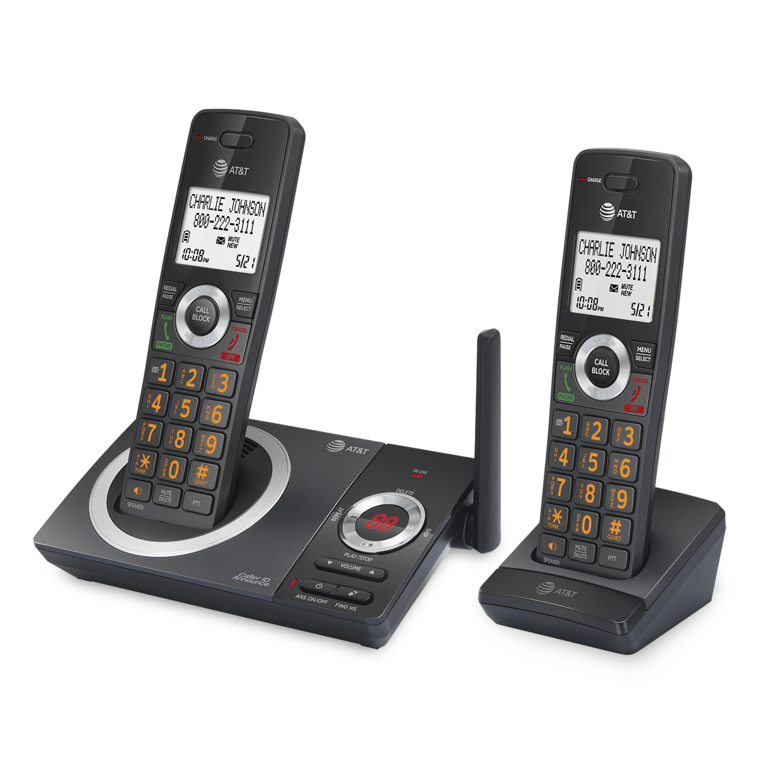8 CRL30102 AT/&T Cordless Answering System Talking Caller ID 9 Cordless CRL32102
