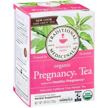 TRADITIONAL MEDICINALS Grossesse organique supplément à base de plantes thé, 16 comte, .99 oz (Pack de 3)