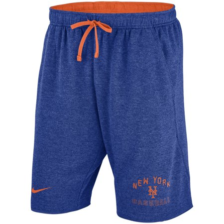 - New York Mets Nike Flux Lounge Shorts - Heathered Royal