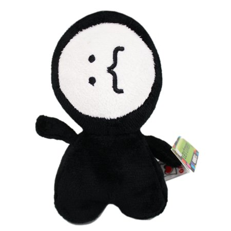 Textmen Emoticon Face Small Plush Toy: Moustache - By Ganz - Kissy Face Emoticon