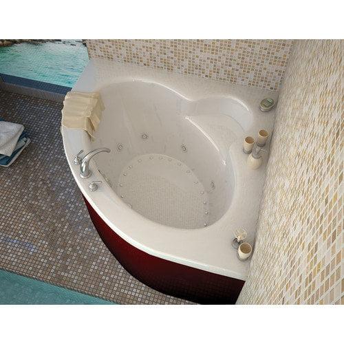 Spa Escapes Trinidad Dream Suite 66.5'' x 84'' Corner Air & Whirlpool Jetted Bathtub
