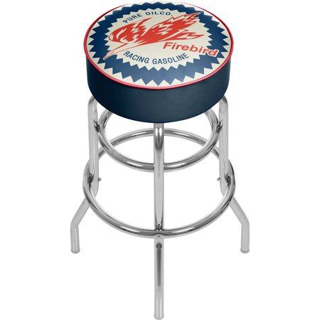 Pure Oil Chrome Bar Stool with Swivel, Firebird
