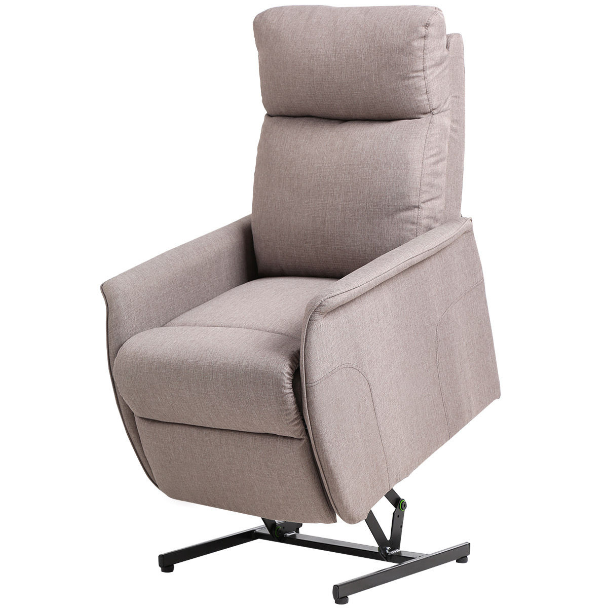 Costway Electric Power Lift Chair Recliner Sofa Fabric Padded Seat Living Room w Remote by Costway