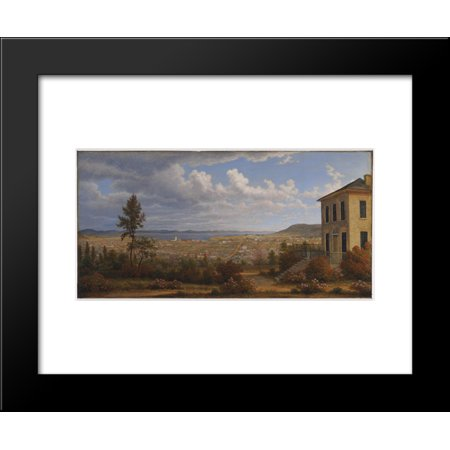 Hobart Town, taken from the garden where I lived 20x24 Framed Art Print by John