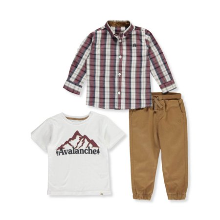 Avalanche Baby Boys' Mountain Logo 3-Piece Pants Set Outfit