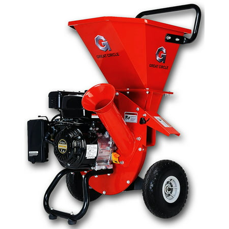 "GreatCircle 6.5 HP Heavy Duty 212cc Gas Powered 3 IN 1 Pro Wood Chipper Shredder for Lawn and Garden Outdoor with 3"" max Wood Diameter Capacity"
