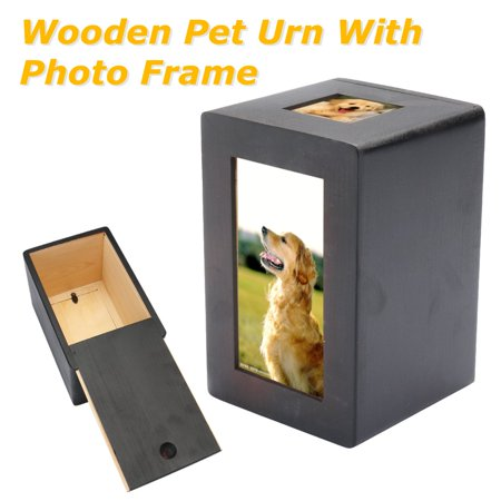 Meigar Pet Dog Cat Cremation Urn Peaceful Pet Memorial Keep Sake Photo Box Rectangle 4.2