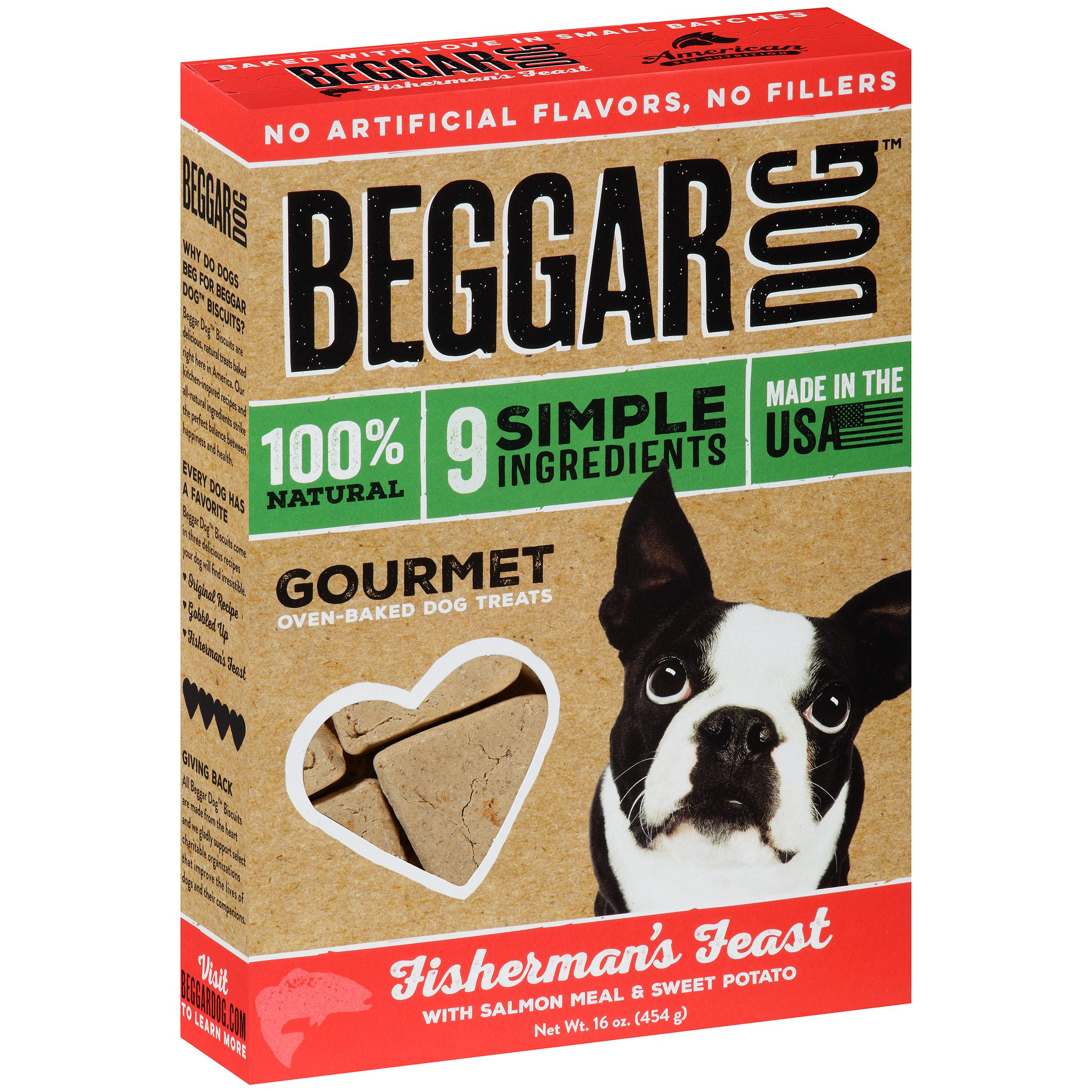 "Beggar Dog Fisherman's Feast Gourmet Oven-Baked Dog Treats 16 oz. Box by American Pet Nutritionâ""¢"