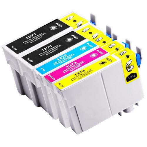 Replacement Epson T127 Set of 5 Extra High Yield Ink Cart...