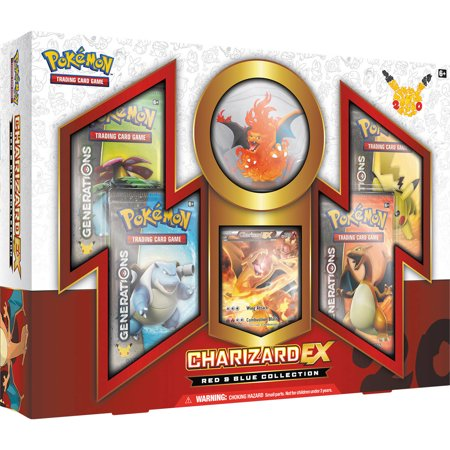 Pokemon Red And Blue Collection Charizard Ex Box