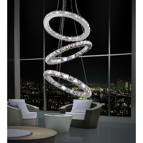CWI Lighting Ring 54-Light Crystal Chandelier