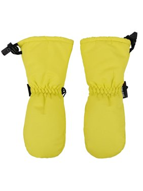 Toppers Kids Winter Ski Gloves Thinsulate Lined Waterproof Ski Mittens Yellow M