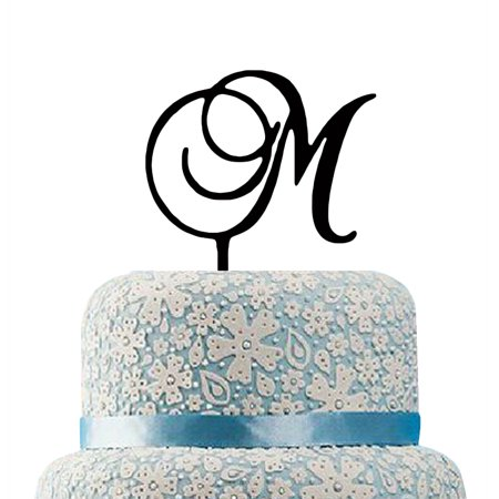 Buythrow Monogram M Cake Topper Personalised Initial Name Cake