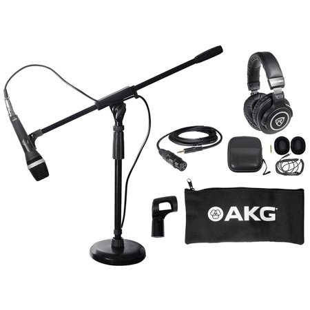 akg d5 c pc podcasting podcast microphone desk stand w boom headphones. Black Bedroom Furniture Sets. Home Design Ideas
