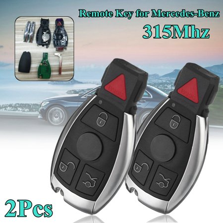 2x 315Mhz Remote Entry Key Entry Keyless 3+1 Button Fob w/ Battery For Mercedes-Benz C230 C280 C350 (2010 Mercedes Benz S400 Hybrid For Sale)