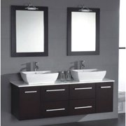 Cambridge Plumbing Poplar 62'' Double Bathroom Vanity Set with Mirror