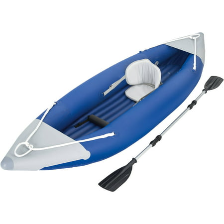 Ozark Trail 1-Person Bolt Inflatable Kayak with Dual-Bladed Oar, Pump and Carry Bag