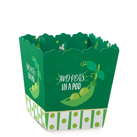 Double the Fun - Twins Two Peas in a Pod - Party Mini Favor Boxes - Baby Shower or 1st Birthday Party Treat Candy - Mini In A Box