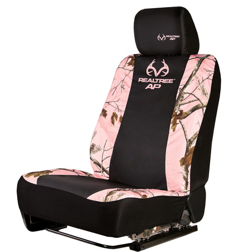 Realtree Pink Camouflage Low-Back Bucket Seat Cover