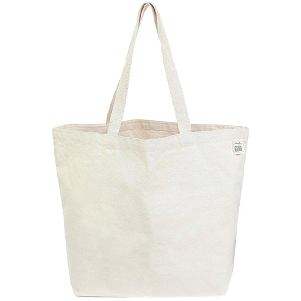 ecobags everyday shopper canvas tote bag