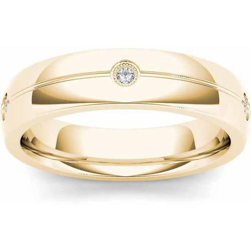 Imperial 1/8 Carat T.W. Diamond Men's 14kt Yellow Gold Wedding Band