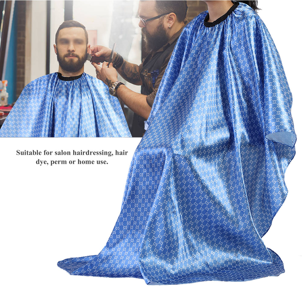 Yosoo Beauty Salon Apron,Salon Cape,Fashion Black Salon Hair Cut Hairdressing Barbers Waterproof Hair Cutting Cape For Adult Use