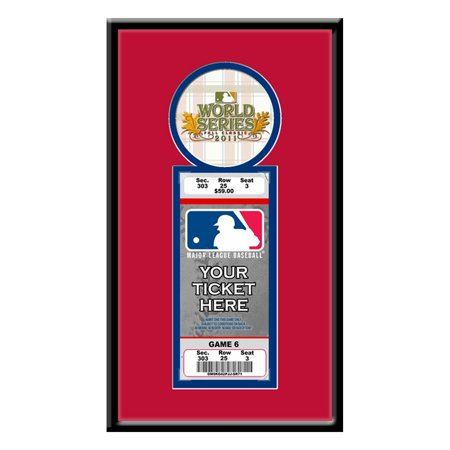 2011 MLB World Series Single Ticket Frame - St Lou