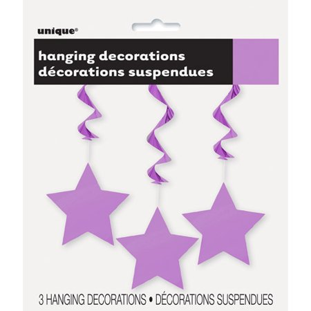 Star Hanging Decorations, 26 in, Purple, 3ct for $<!---->