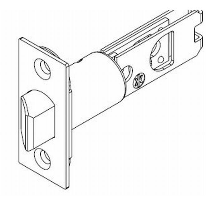 "Kwikset 82729-690 2-3/4"" Square Deadbolt Latch Aged Bronze Finish"