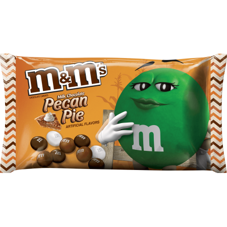 M&M'S Halloween Pecan Pie Fall Harvest Blend Chocolate Candy Bag, 9.9 oz