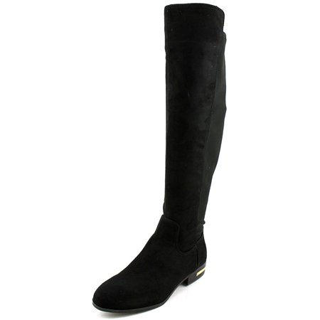 Marc Fisher Pheonix 2 Women  Round Toe Canvas Black Knee High Boot