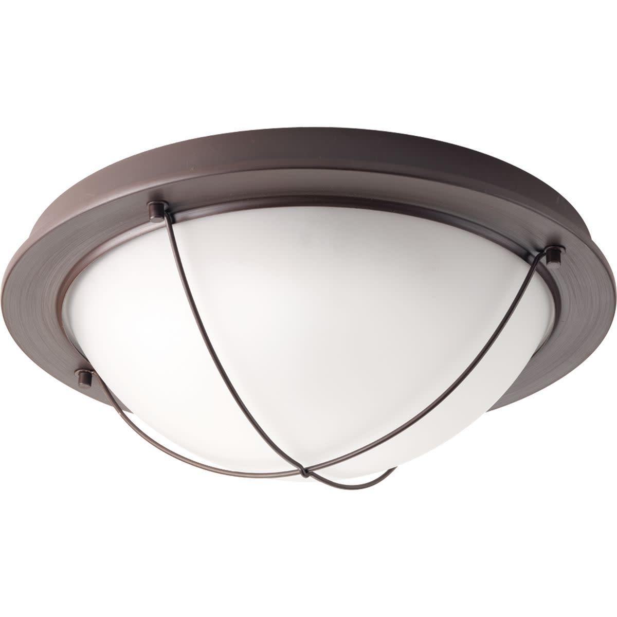 Progress Lighting P3659-LED Portal 1 Light LED Flush Mount Ceiling Fixture with Etched Glass