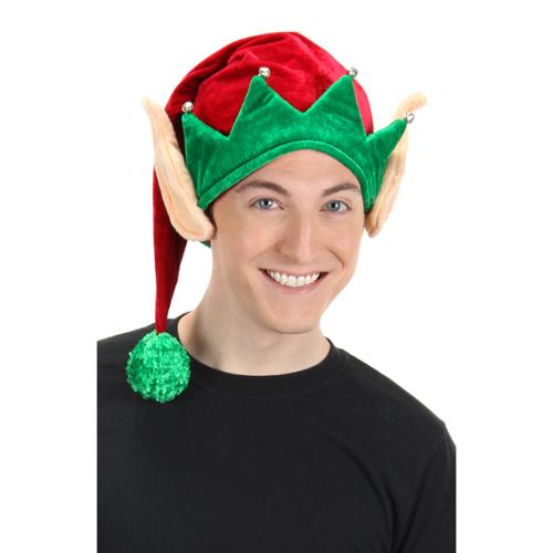 Christmas Elf with Ears Adult Costume Hat
